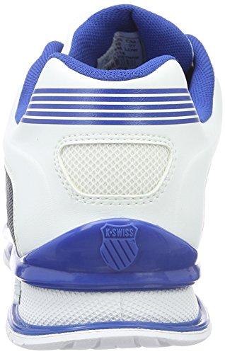 K-Swiss Rinzler, Baskets Basses Homme Blanc (White/Classic Blue)