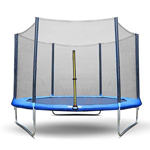 Alice's Garden- Red de seguridad para cama elástica 245cm, 305cm, 366cm. Entrada de doble cerradura con cremallera y bucles