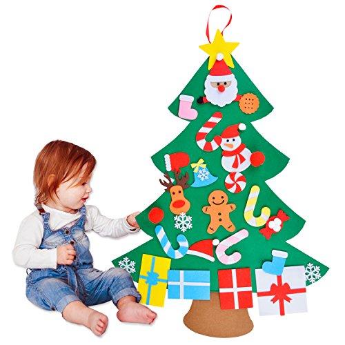 COAFIT Albero di Natale in Feltro con Decorazioni Natalizie E Decorazioni Natalizie