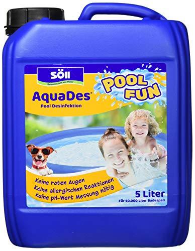 Söll AquaDes 5 l -Pool und Planschbecken Desinfektion, Keine allergischen Reaktionen, roten Augen, pH-Wert-Messung -