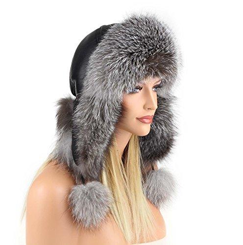Silver Fox Fur Hat Pelzm