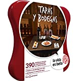 LA VIDA ES BELLA - Caja Regalo - TAPAS Y BODEGAS - 390 restaurantes de tapas y bodegas con denominación de origen en España