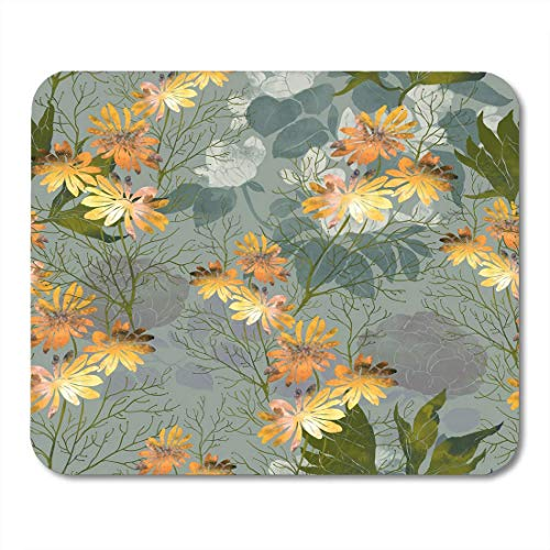 Botanische Kräuter (Mauspad Abdrücke Blumen und Kräuter Hand Digital Zeichnung Aquarell Botanische Mousepad für Notebooks, Desktop-Computer Mauspads)