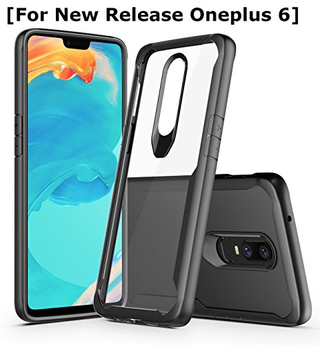 Annure® 360 Protection Black Soft Border and Hard Transparent Back Cover Case for OnePlus 6/One Plus 6 (Black)