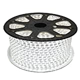 RichDeer-Wasserdicht 220V IP65 SMD 2835 LED Streifen LED-Strip LED Band Streifen LED Strip-Licht Superhell (60 LEDs/Meter) (20m weiß) [Energieklasse A+]