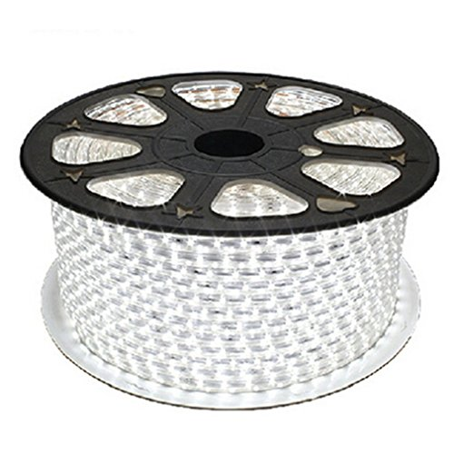 RichDeer-Wasserdicht 220V IP65 SMD 2835 LED Streifen LED-Strip LED Band Streifen LED Strip-Licht Superhell (60 LEDs/Meter) (20m weiß) [Energieklasse A+]