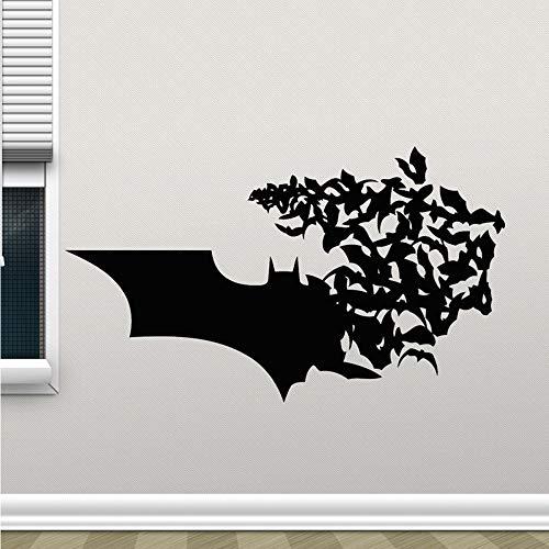 kleber wandbild Logo Wandtattoos Bat Comics Superhelden Kinder Schlafzimmer Wohnkultur Kunst Poster 57 * 96 cm ()