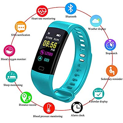 LIGE Fitness Tracker Sport Watch Color Screen Heart Rate Monitor,Outdoor Sports Fitness Watch Waterproof Smart Bracelet for Men, Women, Kids with Sleep Monitor, Smart Watch Pedometer Calorie Counter by LIGE