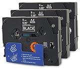 Bubprint 3 Schriftbänder kompatibel für Brother TZE-325 TZE 325 für P-Touch 1280 2430PC 2730VP 3600 9500PC 9700PC D400VP D600VP H100LB H105 P700 P750W