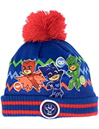 Blue Azul 001 PJ Masks 2200002551 Glitter Effect Childrens Winter Set Includes Beanie Hat and Gloves Unisex-Child One Size