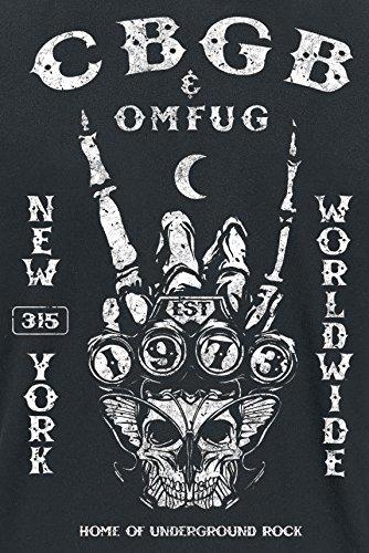 CBGB Rock Hand T-Shirt schwarz Schwarz