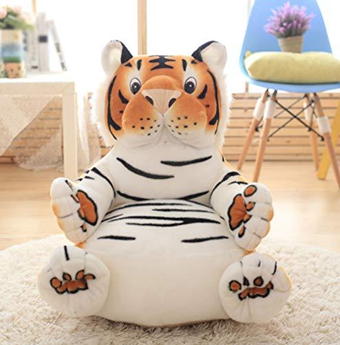 Plüsch-Kindersessel Cartoon Sessel Babysessel Kindermöbel 60 x 60 cm für Spielzimmer oder Kinderzimmer,Tiger