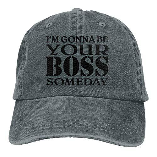 Presock I'm Gonna Be Your Boss Someday Cowboy Cap Unisex Snapback Baseball Hat Deep Heather - Heather Rim