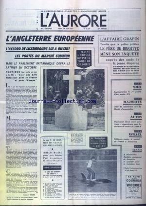 AURORE (L') [No 8339] du 24/06/1971