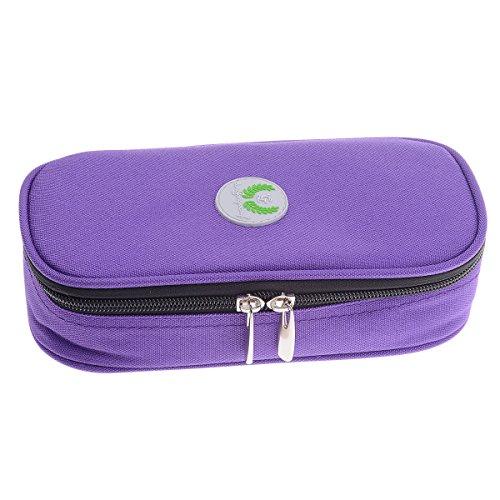 Insulin kühltasche Diabetiker Tasche Medikamenten Kühltasche für Diabetikerzubehör mit Kühlakkus (Lila)