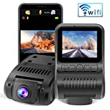Dashcam WiFi 1080P FHD Autokamera 2.0 Zoll LCD Dashcam with Super Nachtsicht,...