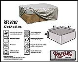 RFS8787 Schutzhülle für Geflecht Lounge Tisch, Rattan Kaffeetisch, Lounge Hocker, Fussteil Oder Fussstütze. Plane, abdeckhaube, Abdeckung, hülle