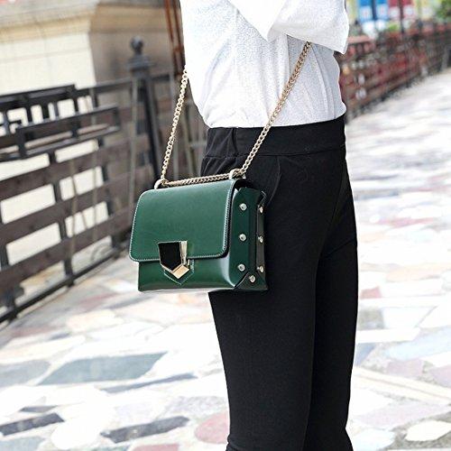 Personality Schräge Querschultertasche Handtasche Kette Mini Sperren Temperament Handtaschen Dunkel~~Pos=Trunc Grün~~Pos=Headcomp