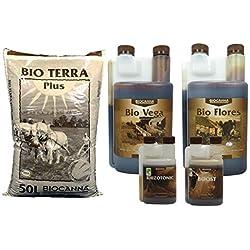 Pack terreau Bio Terra Plus + engrais Vega & Flores - BIOCANNA
