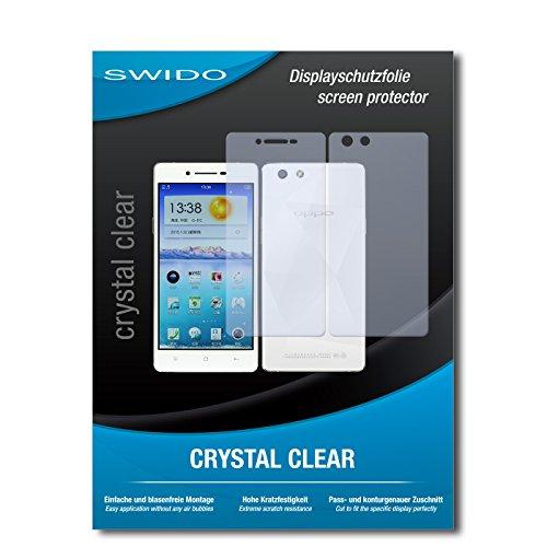SWIDO Bildschirmschutz für Oppo R1x [4 Stück] Kristall-Klar, Hoher Härtegrad, Schutz vor Öl, Staub & Kratzer/Schutzfolie, Bildschirmschutzfolie, Panzerglas Folie