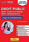Droit public - Droit constitutionnel - Droit administratif - Concours 2019-2020 - Fonction publique - Catégories A et B par Bellégo