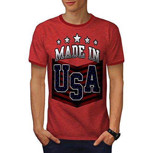 Usa-t-shirt Im Gemacht (wellcoda Gemacht IM USA Männer XL T-Shirt Zurück)