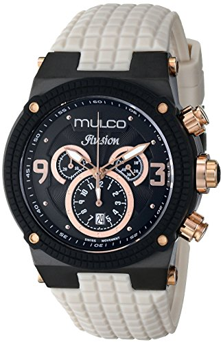 MULCO Unisex MW3-12140-115 Ilusion Analog Display Swiss Quartz Beige Watch