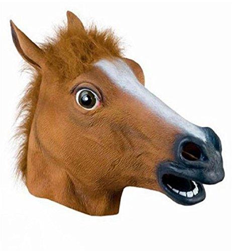 Pferdemaske für Halloween,Lypumso Maske latex Tiermaske Pferdekopf,Pferd Kostüm für Party (Maske Chemische)