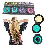 HALLOWEEN Maquillage Costume New temporaire colorant non - toxique , Chalk cheveux 4 Pastel Couleur DIY Kit Set De 12 Club Glitz Pack