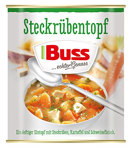 Buss Steckrübentopf mit Schweinefleisch, 6er Pack (6 x 800 g)