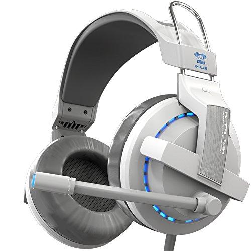 Gaming Headset mit Mic - Horsky 3.5MM USB verdrahtet über Ohr Surround Stereo Kopfhörer mit Mikrofon für das Abspielen von Computer Spiel arbeiten