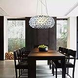 VINGO® 12W LED 3in1 Farbwechsel Kristall Hängelampe Acryl Kronleuchter für Esszimmer 2er Pack