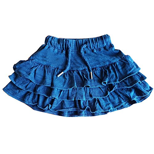 Mini Munchkin Blue Colour Skirt Made from 100% Cotton in Sizes 9 Months to 9 Years