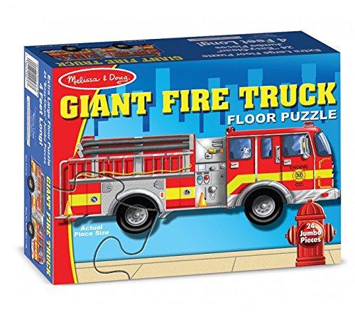 Puzzle de sol camion de pompier géant [Jouet]