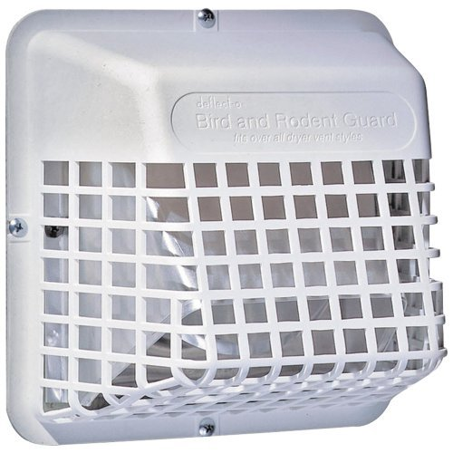 1 - UBGWL Universal Bird Guard, Prevents birds from nesting in duct, Fits any 3 or 4 exterior exhaust hood, UBGWL-A by Deflecto -