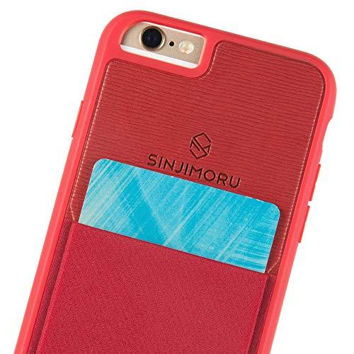 Sinjimoru iPhone 6 / 6s Wallet Case, iPhone 6 Hülle mit Kartenfach/iPhone 6 Schutzhülle mit Smart Wallet Kartenhalter. Sinji Pouch Case für iPhone 6 / 6s, Rot.