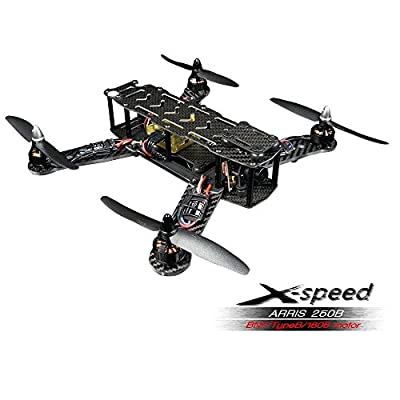 ARRIS X-Speed 250 Racing Drone RC Racer Quadcopter Assembled BNF w/LED Light (Type B/1806)