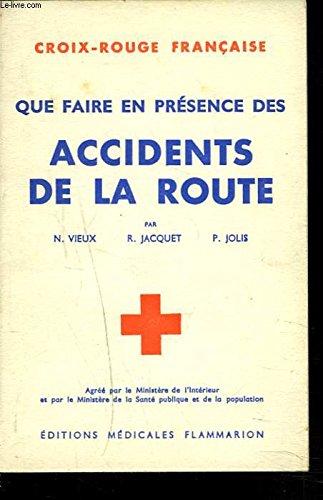 QUE FAIRE EN PRESENCE DES ACCIDENTS DE LA ROUTE.