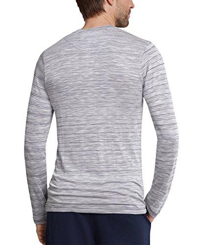 Schiesser Herren Shirt langarm 159760 dunkelblau-melange