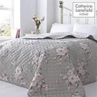 Catherine Lansfield Canterbury Easy Care Bedspread Grey, 240x260cm