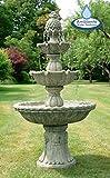 Primrose Dreistufiger Springbrunnen mit Steinoptik, 150cm, Ambienté™