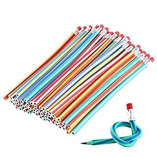 VEYLIN 30 Pieces Soft Flexible Bendy Pencils Toys Children School Fun Equipment for Party Bag Fillers