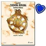 Carmina burana Cant iones profanae-capolavoro di Carl orffs Coro Score-Clip a forma di cuore con note