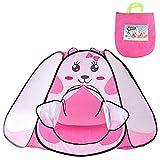 Tenda per Bambini 3 4 5 Anni-Tenda da Gioco Bambino Castello Pop Up Tenda Giocattolo Campeggio Rosa per Bambini Bambina(Coniglio)