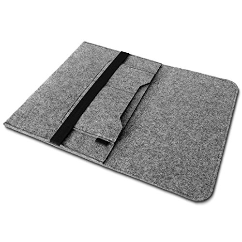 Microsoft covering Laptop 135 Sleeve Cover Hlle Tasche Notebook Filz event Schutzhlle FarbenHell Grau Hllen Schalen