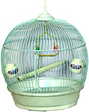 PET CLUB51 Pet Bird and Parrot Cage (White)