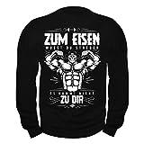 Männer und Herren Pullover Zum Eisen musst du streben (mit Rückendruck)