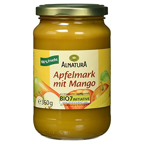 Alnatura Bio Apfelmark mit Mango, vegan, 360 g