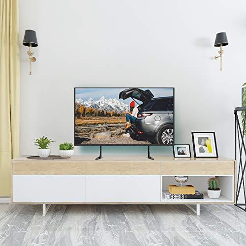 """51%2Bh28wfwVL - Soporte Universal de TV de Sobremesa para Pantalla Plana de 37-65"""", LCD Televisores con Base de Patas de Altura Ajustable para Soportar hasta 50kg, VESA hasta 800x400mm"""