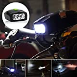 Home Cube?? 3 Led Bike Bicycle Front Headlight Cycling Lamp and Electronic Bell